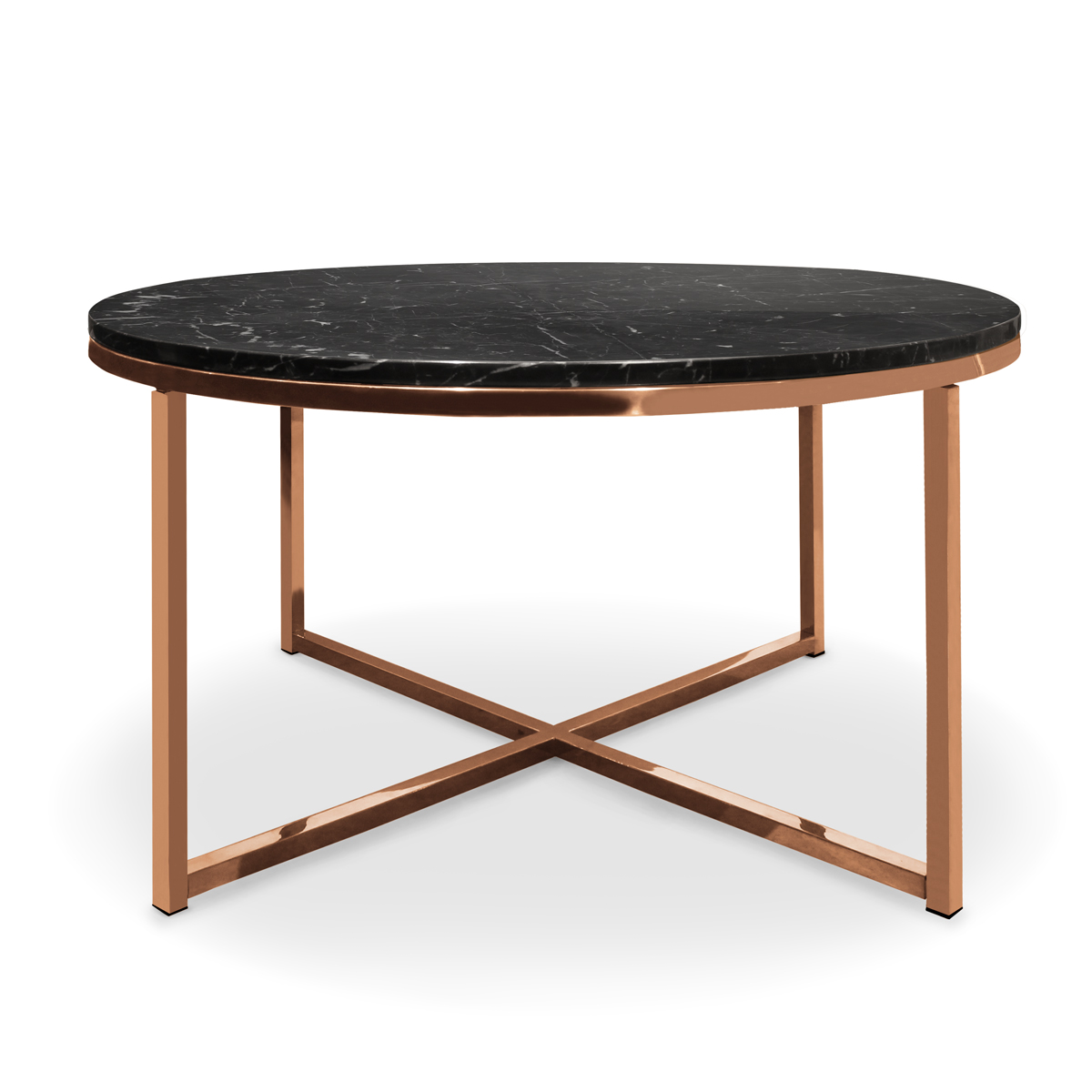 Picture of: Laurence Round Black Marble Coffee Table Ruma