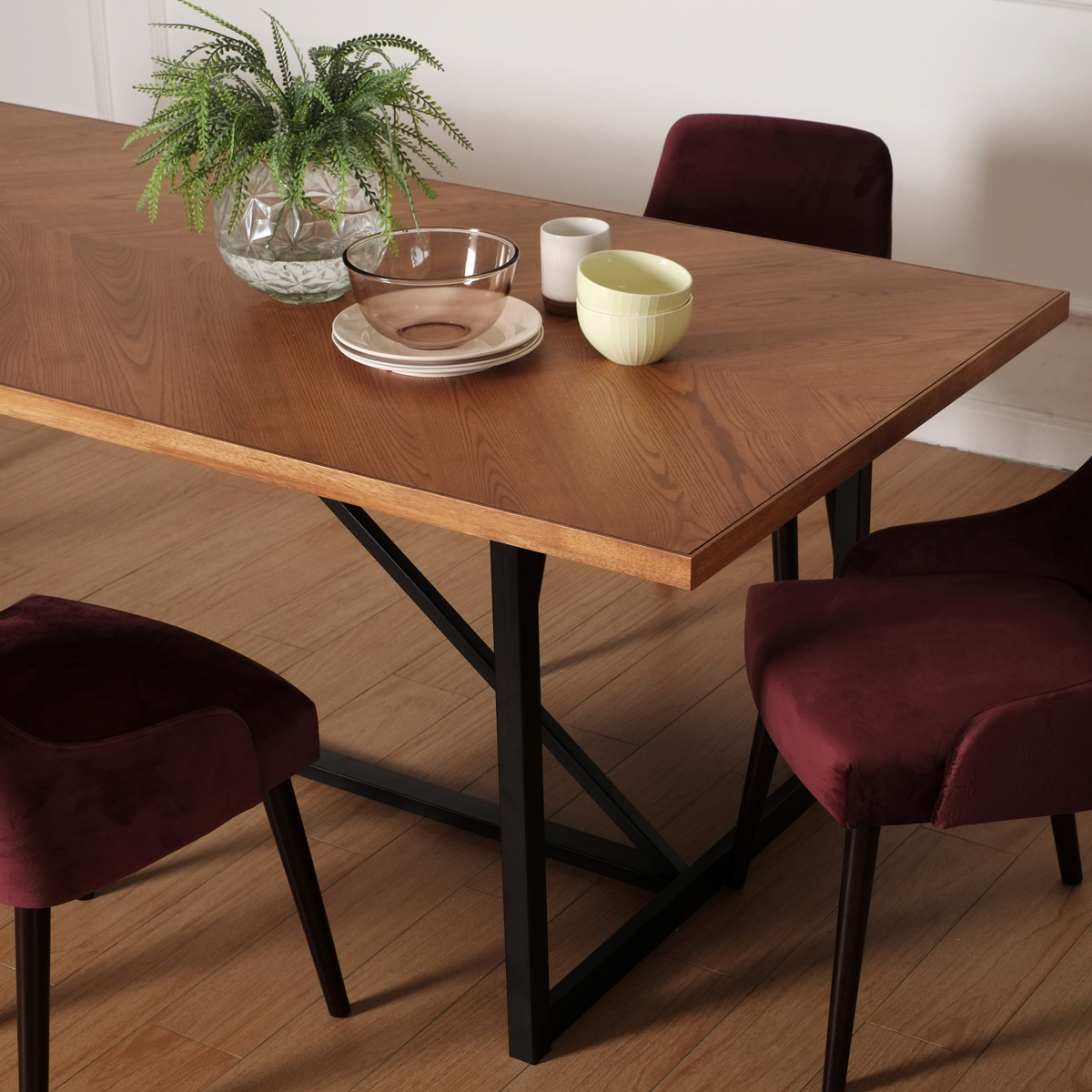 Hudson Chevron Dining Table 240cm Ruma, Hudson Dining Room Furniture