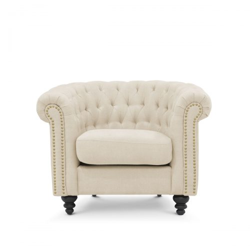 Canterbury Oatmeal Chesterfield 1 Seater Sofa