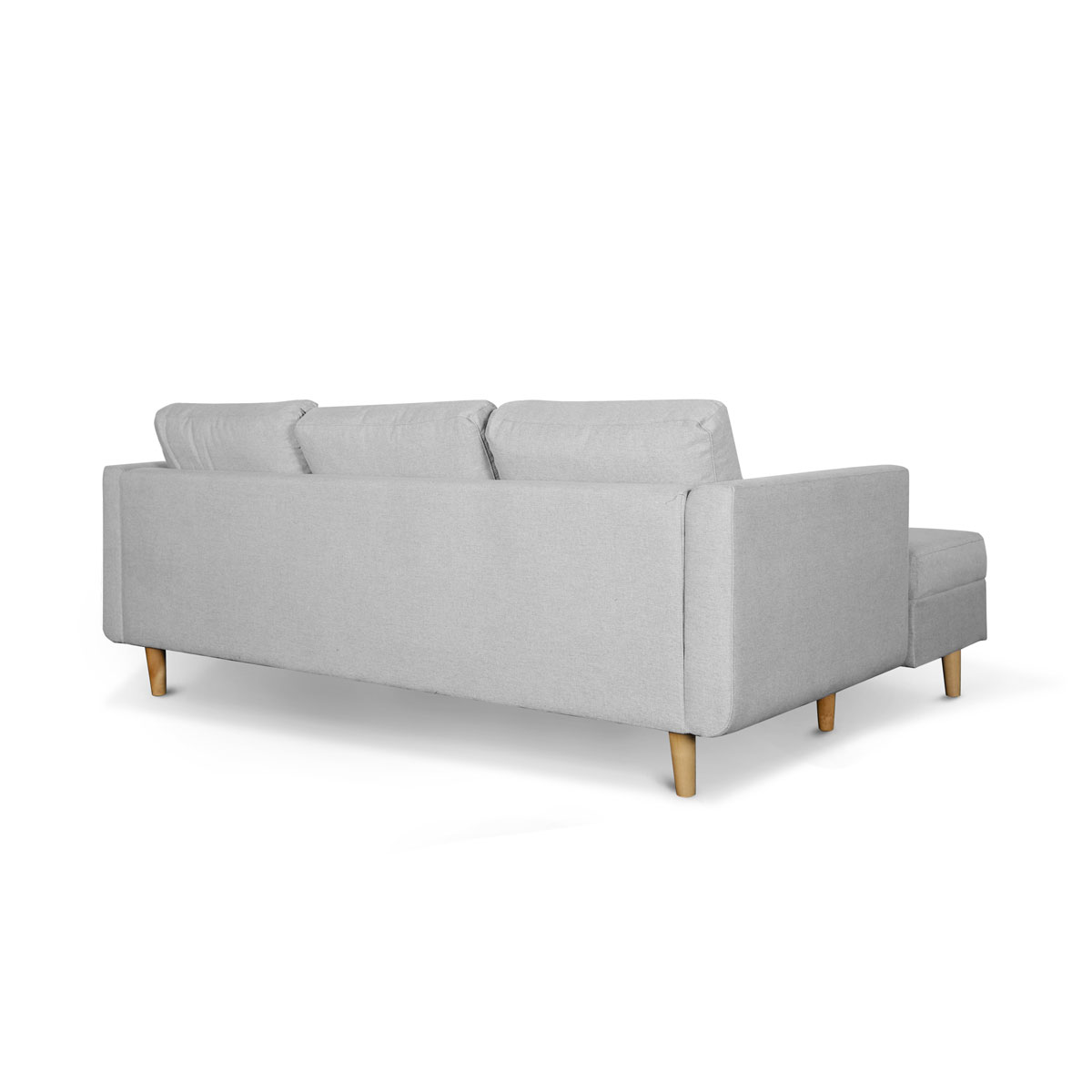 Marcel Stone Grey Right Sectional Sofa Bed Ruma