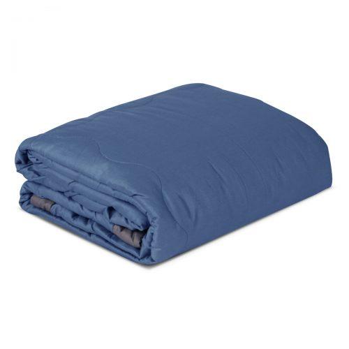 Aneta 100% Cotton Double Blanket/Bedspread – Blue