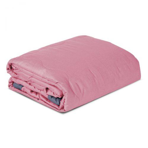 Aneta 100% Cotton Double Blanket/Bedspread – Pink