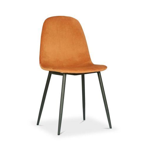 Sera Chair Tangerine Velvet