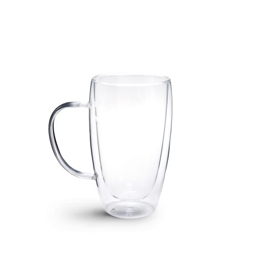 Brew Double Wall Glass with Handle 450ml