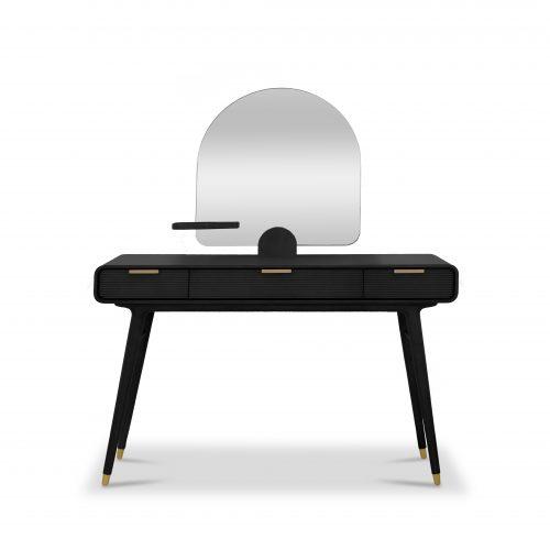 Dalton Ebony Vanity Desk