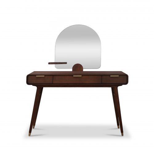 Dalton Walnut Vanity Desk